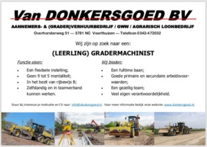 vacature leerling grader machinist